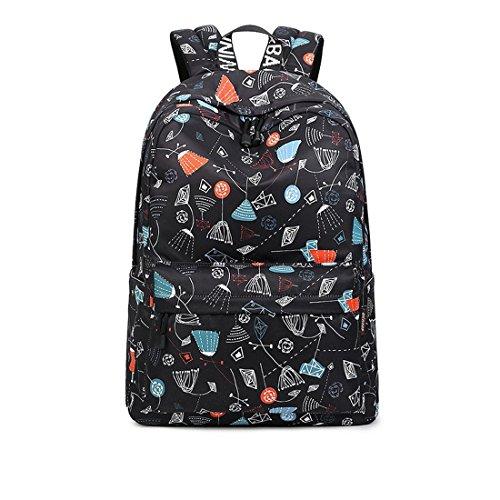 cute black teen side backpack - 8
