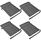 Monitor Stand Riser with Vented Metal for Computer, Laptop, Desk, iMac, Printer with 14.5 Platform 4 inch Height (Black, 4 Pack)