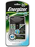Energizer Pro Battery Charger, Charges AA and AAA Batteries, (4 AA Rechargeable Batteries Included)