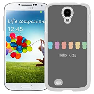 Unique and Fashionable Cell Phone Case Design with Flat Hello Kitty Pastel Galaxy S4 Wallpaper in White