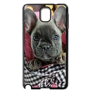 Zachcolo French Bulldog Puppy Cases for Samsung Galaxy Note 3 Design Protective, Samsung Galaxy Note 3 Cases for Men Protective for Girls with Black
