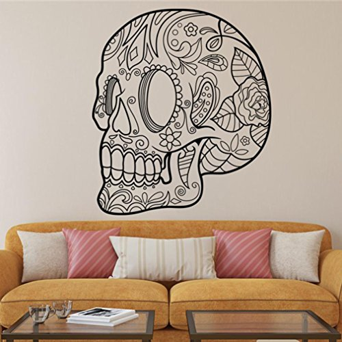 Wall Sticker, Hatop Halloween Skeleton Background Decorated Living Room Bedroom Wall Stickers (L'islam Et Halloween)