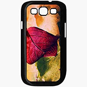 Unique Design Fashion Protective Back Cover For Samsung Galaxy S3 Case Fall Leaves Background Nature Black