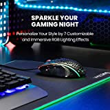 PICTEK RGB Wired Gaming Mouse Honeycomb Mouse, 8000