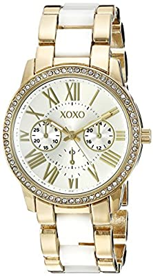 XOXO Women's XO5875 Analog Display Analog Quartz Two Tone Watch