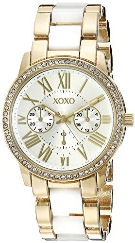 XOXO Women's Analog Display Analog Quartz Two Tone Watch XO5875 - 1