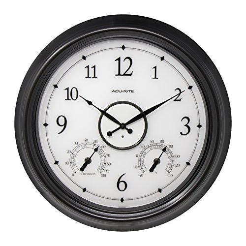 AcuRite LED Illuminated Outdoor Clock, 18