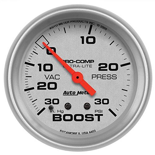 Auto Meter 4403 Ultra-Lite Mechanical Boost/Vacuum ()