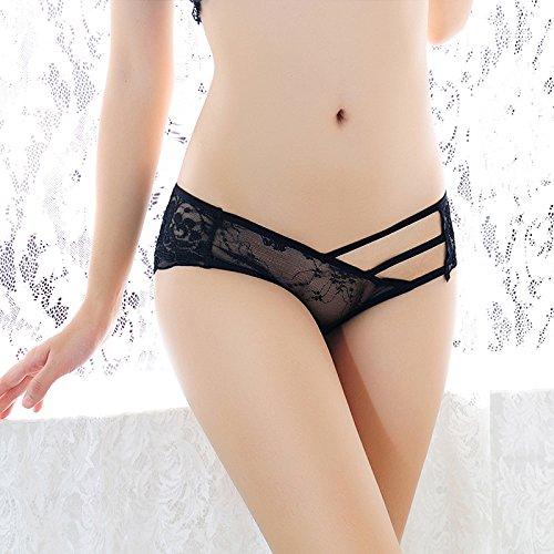 battar-girl-girl 's Sexy Spitze Unterwäsche Slip Panty Hipster String Unterwäsche Unterwäsche der Dame Super Dünn Transparent Gaze 5Stück