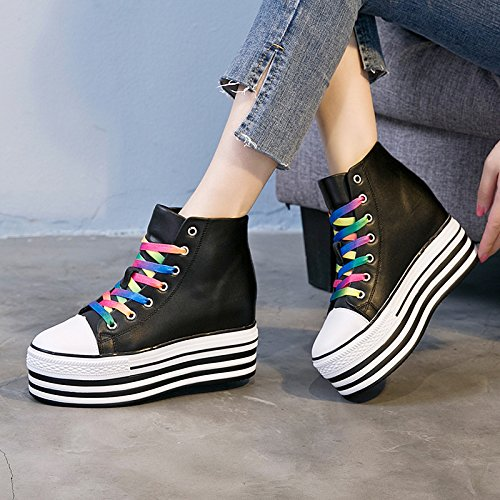 With Shoes Shoes Shoes Casual High Help Cake And The Sponge Sponge Autumn seven Women Women'S New Cake With Winter Tide Thirty Slope Tether With KPHY Strap vU8qawn