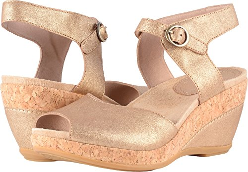 Dansko Women's Charlotte Sandal Gold Crinkle Size 36 EU (5.5-6 M US Women)