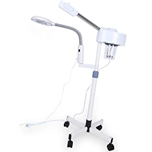 3 in 1 Professional Ozone Facial Steamer with 5X Magnifying Lamp Multifunctional LED Light, Magnifier Hot Spray Facial Steamer, Spa Beauty Skin Care Equipment