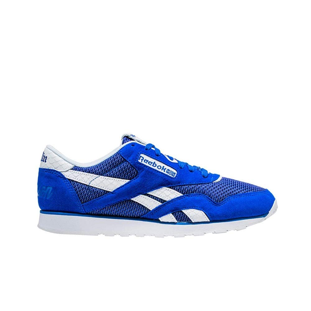 ea7cd377cfb2 Amazon.com  Reebok Classic Leather Nylon X Nipsey Hussle (Blue) Men s Shoes  CN4521  Sports   Outdoors