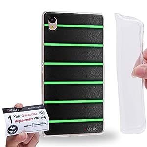 Case88 [Sony Xperia Z3+ / Z4] Gel TPU Carcasa/Funda & Tarjeta de garantía - Art Green Bicycle Grip 1326