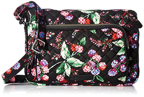 Vera Bradley Iconic Rfid Little Hipster-Signature, Winter Berry by Vera Bradley