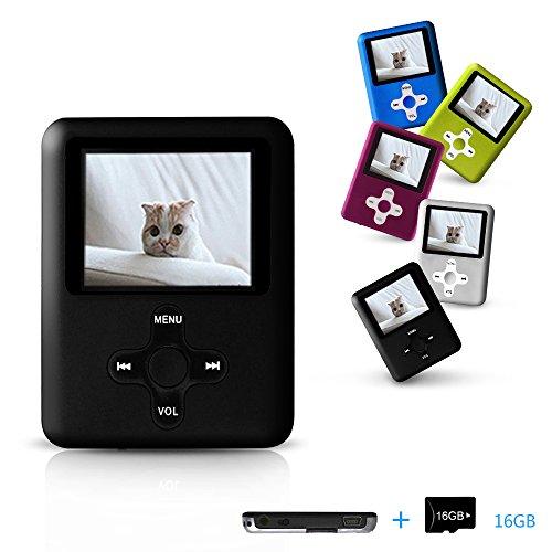 Lecmal MP3/MP4 Player with 16GB Micro SD Card (Black)