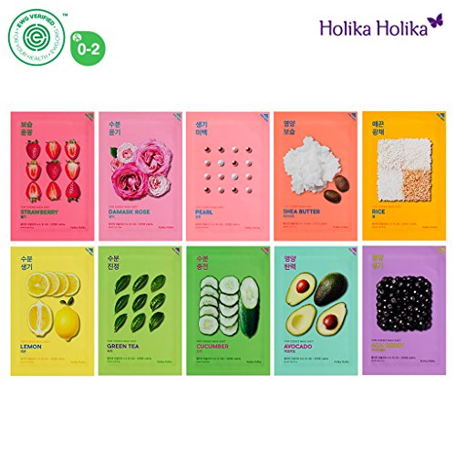 [Holika Holika] Pure Essence Mask Sheet 20ml Pack of 10, 100% Natural Tencel Sheet, Easy to Open