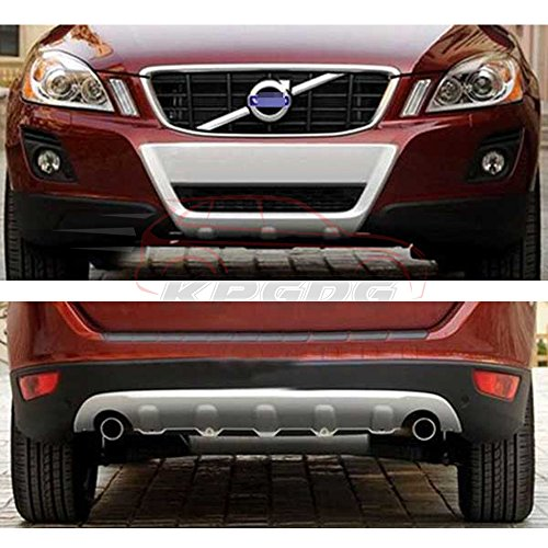 Fit for VOLVO XC60 XC 2008-2012 Chrome ABS Front Rear Bumper Board Skid Plate Bar (Volvo Skid Plate)