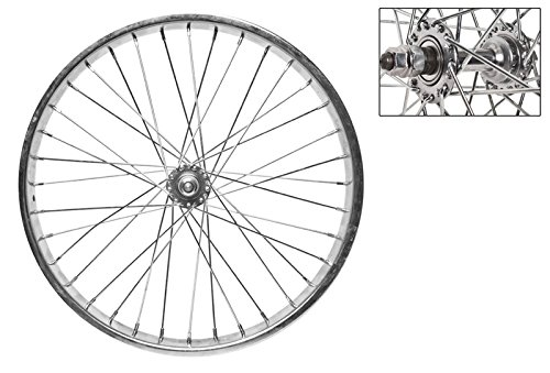 WheelMaster Front Bicycle Wheel, 20 x 2.125, 36H, Steel, Bolt On, Silver by WheelMaster