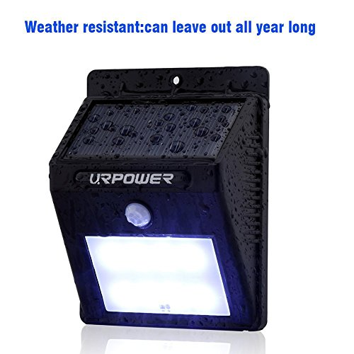 URPOWER Solar Lights 8 LED Wireless Waterproof Motion Sensor Outdoor Light for Patio, Deck, Yard, Garden with Motion Activated Auto On/Off (4-Pack) by URPOWER (Image #3)