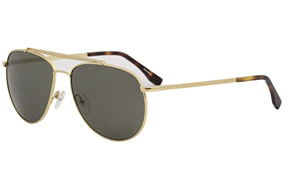 3c86498a2b8 Image Unavailable. Image not available for. Color  Lacoste L177S 714 Gold Aviator  Sunglasses