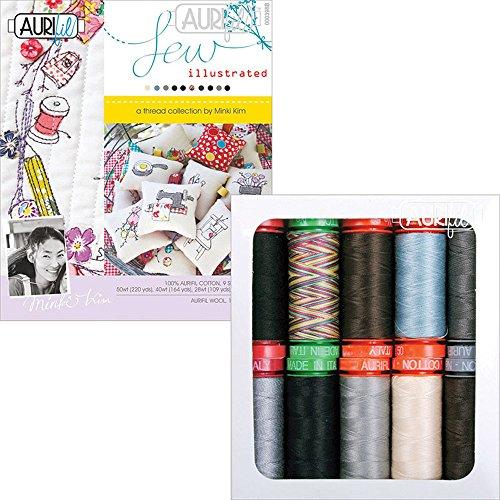 Minki Kim Sew Illustrated Aurifil Thread Kit 10 Small Spools MKSI10 by Aurifil
