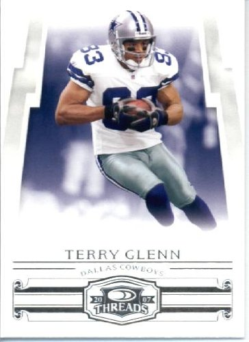 32e94dd80 2007 Donruss Threads Football Card IN SCREWDOWN CASE  14 Terry Glenn ENCASED
