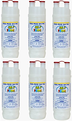 Pool Frog Mineral Purifier Replacement Chlorine Bac Pac - 6 Pack by King Technology