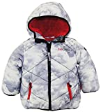 Big Chill Little Boys' Quilted Puffer Jacket with Hood, Avalanche, 2T