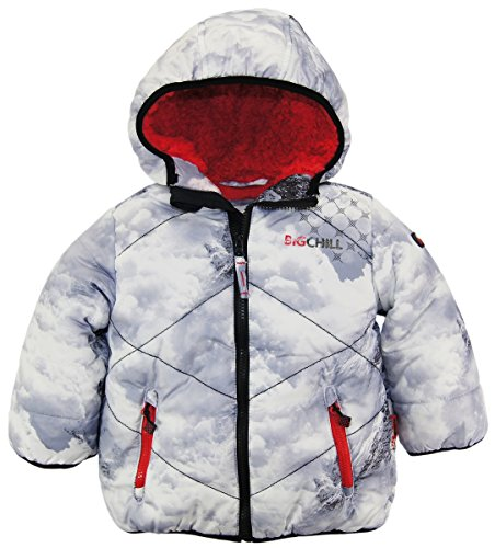 Big Chill Little Boys' Quilted Puffer Jacket with Hood, Avalanche, 2T by Big Chill