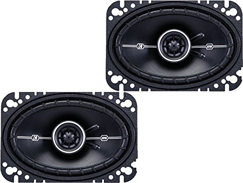"Kicker DSC46  4"" x 6"" D-Series Coaxial 2-Way Car Speakers Wi"