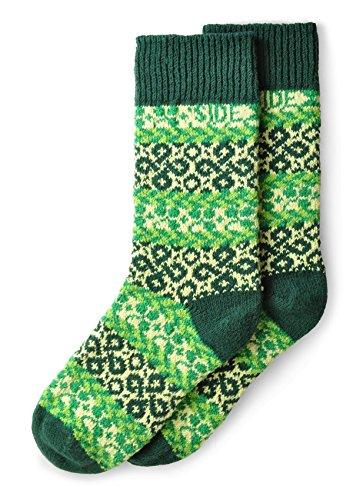 Sidekick Adult Crew Socks Get Lucky Kelly Green Large