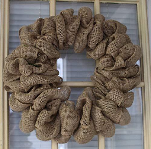 15, 18, 20,22,24 inch Burlap wreath, Wedding wreath, Rustic wreath, Outdoor wreath,Front door Wreath,DIY Wreath,Plain Wreath, Spring Wreath, Winter Wreath, home -
