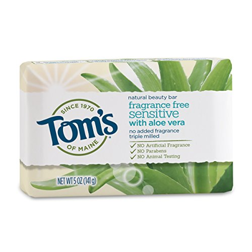 Tom's of Maine Natural Beauty Bar Soap with Aloe Vera, Fragrance Free, 5 oz ()