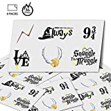 YoHold Wizard Tattoos Temporary with 6 Different Styles of Wizard Tattoos Sticker for Halloween, Wizard Party Supplies Decorations, 36 Packs in All