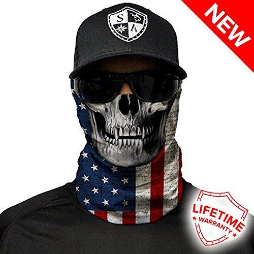 Salt Armour Face Shield | American Flag Skull