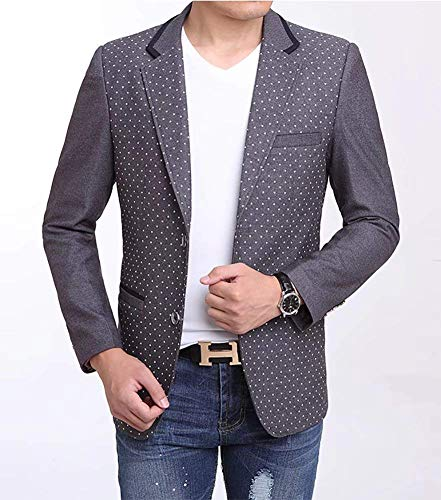 Laine Tailles En Blazer Veste Fit Vêtements Casual Point Confortable Manteau Mode Grau Costume Slim Wave Classique Homme tpq0wIy0Rx