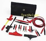 TestHelper TH-10-KIT Insulation 4mm Banana Test Lead Probe Clip Lantern Fork Tip Spring Crocodile Alligator Adaptor Multimeter Accessory Kit