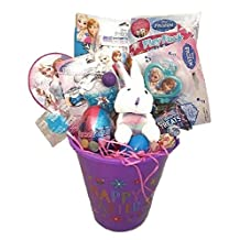 Easter Basket Frozen Theme Bundle with 12 Goodies: Glitter Putty Slime, Toys, & Easter Candy