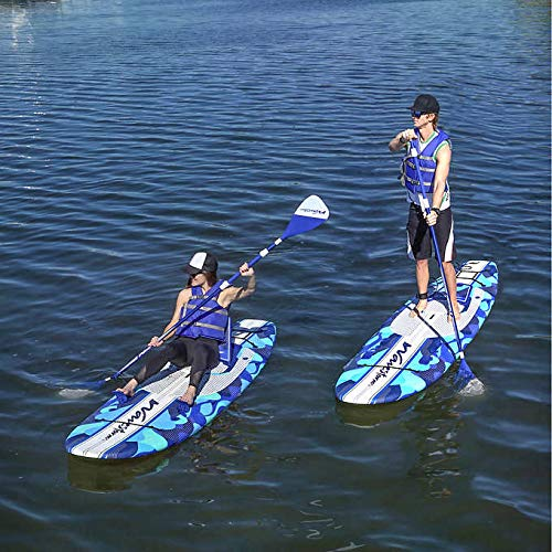Wavestorm 9ft6 Stand Up Paddleboard 2-Pack // Foam Wax Free Soft Top SUP for Adults and Kids of all levels of Paddling