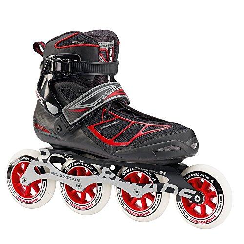 Rollerblade Tempest 100 Inline Skates Black / Red-9.5
