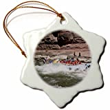 3dRose orn_87866_1 Rafting The Colorado River Grand Canyon Arizona - US03 DPB0088 - Douglas Peebles - Snowflake Ornament, Porcelain, 3-Inch
