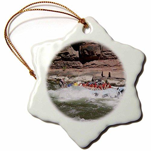 Raft Ornament (3dRose orn_87866_1 Rafting The Colorado River Grand Canyon Arizona - US03 DPB0088 - Douglas Peebles - Snowflake Ornament, Porcelain, 3-Inch)