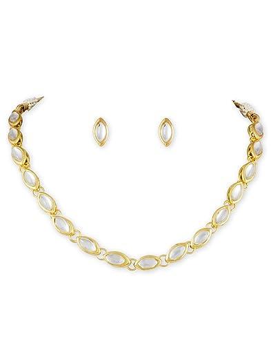 ebbda953cb Buy Karatcart Boat Shape Kundan Necklace Set for Women Online at Low ...