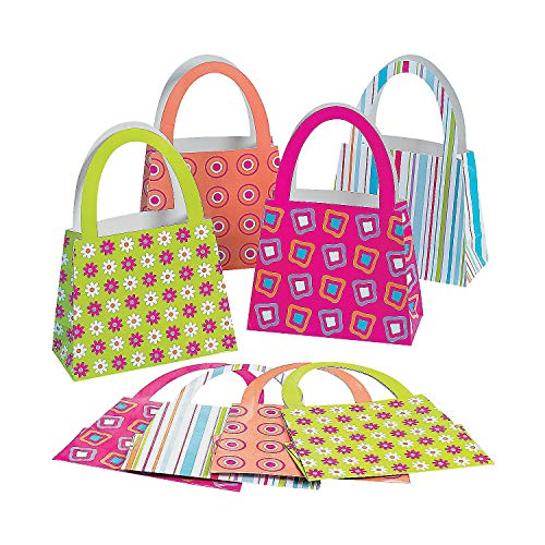 (Fun Express - Purse Bags - Party Supplies - Bags - Paper Gift W & Handles - 12)