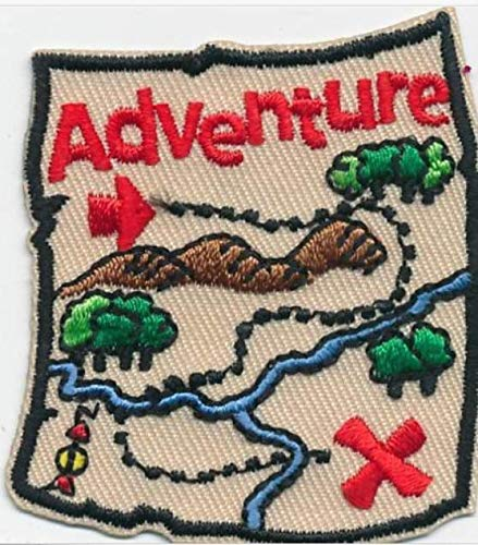 - Cub Girl Boy ADVENTURE MAP Embroidered Iron-On Fun Patch Crests Badge Scout Guides