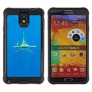 """único patrón Impacto Shock-Absorción y Anti-Arañazos Funda Carcasa Case Bumper Para SAMSUNG Galaxy Note 3 III / N9000 / N9005 , ( Buceo Shark Océano Tropical Mar"""" )"""