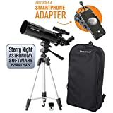 Celestron 22030 Travel Scope 80 Portable Telescope with Smartphone Adapter and Backpack,