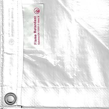 Bauzaunplane 1,76m x 3,41m schwarz//wei/ß Standard Schwerentflammbar B1 Standard, wei/ß