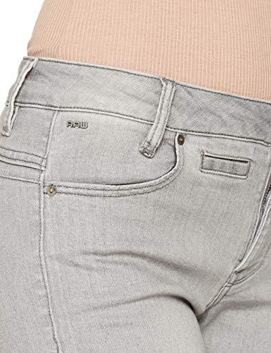 5 lt Aged Wmn Donna star 424 staq G pkt Grigio D Skinny Raw Mid Jeans OIw7UwqFn